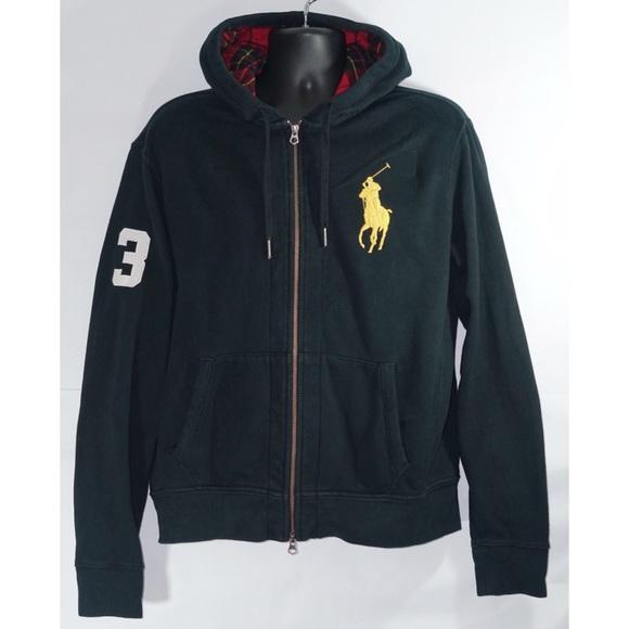 70df51f4 Polo Ralph Lauren Mens Big Pony Full Zip Hoodie L